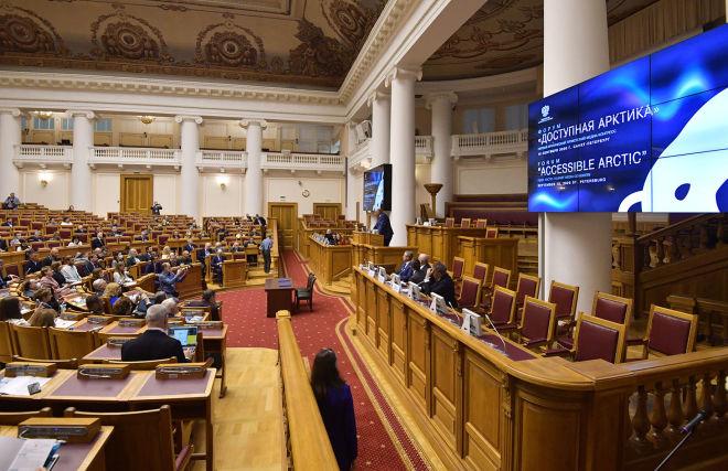 Участники первого Международного арктического медиаконгресса и форума «Доступная Арктика» в Санкт-Петербурге