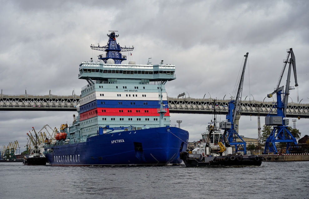 Nuclear icebreaker Arktika reaches the North Pole