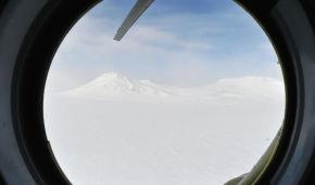 Вид из вертолета на архипелаг Земля Франца-Иосифа