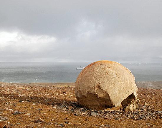 Круглые камни на Острове Чамп