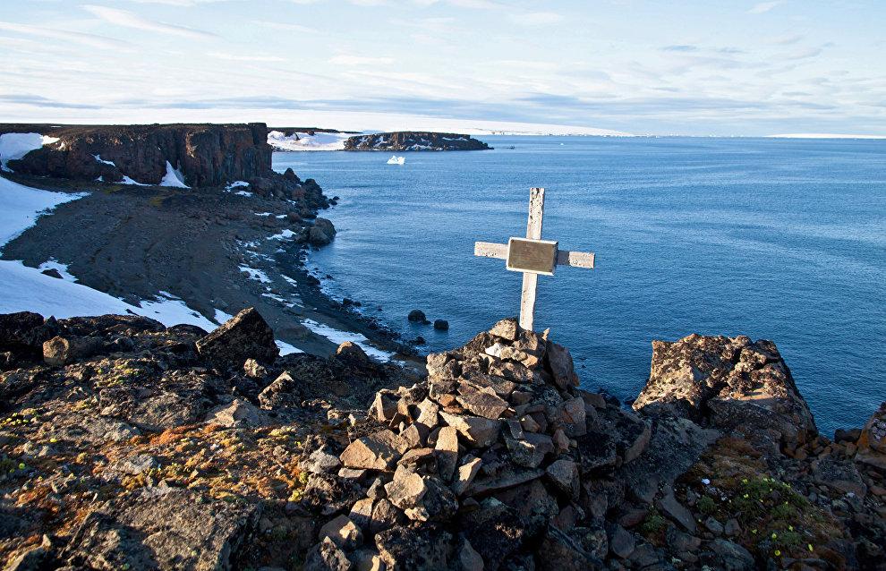 Wilczek Island, Otto Krisch's grave