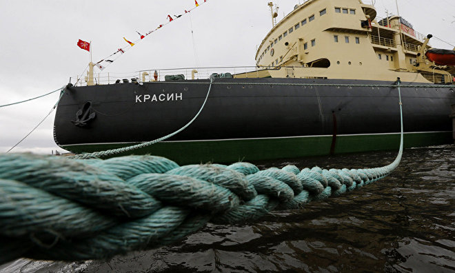 Russian vessels to salute the icebreaker Krasin