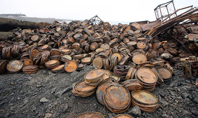 Russian army units collect 2,600 tons of scrap metal in the Arctic