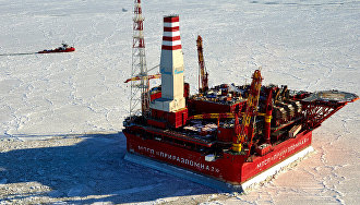 The Prirazlomnaya oil rig