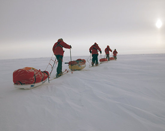 Skiing to the North Pole