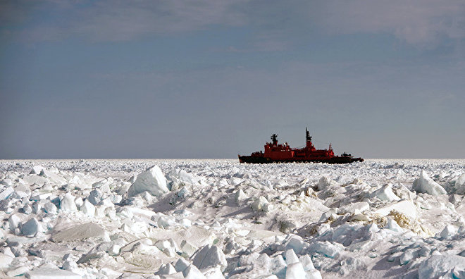 Russian specialists working to design a triple-hulled icebreaker