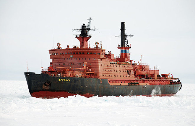 Атомный ледокол «Арктика» в своём последнем рабочем рейсе