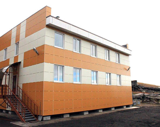 The Russian scientific center's chemical laboratory in Barentsburg on Spitsbergen (Svalbard)