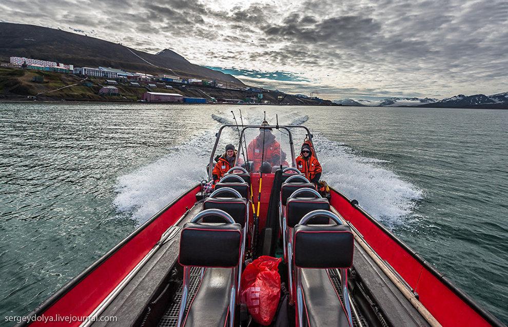 Выход с туристами на рыбалку в Грёнфьорд