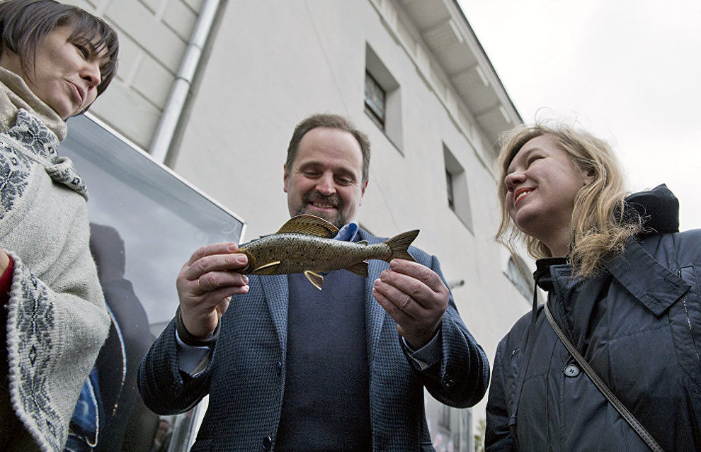 Sergei Donskoi, Minister of Natural Resources and Environment, Alina Saprykina, Director of the Museum of Moscow