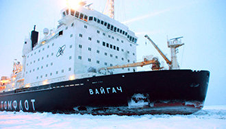 Vaygach icebreaker beats world record