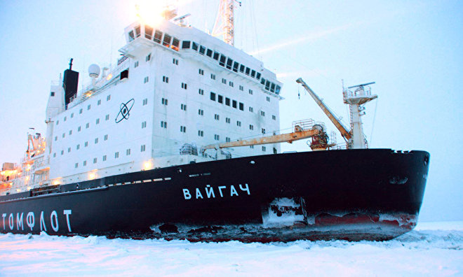 Vaigach nuclear icebreaker sets speed record navigating along Northern Sea Route