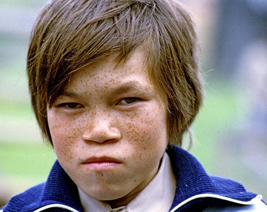 A Mansi boy in the Khanty-Mansi Autonomous Area