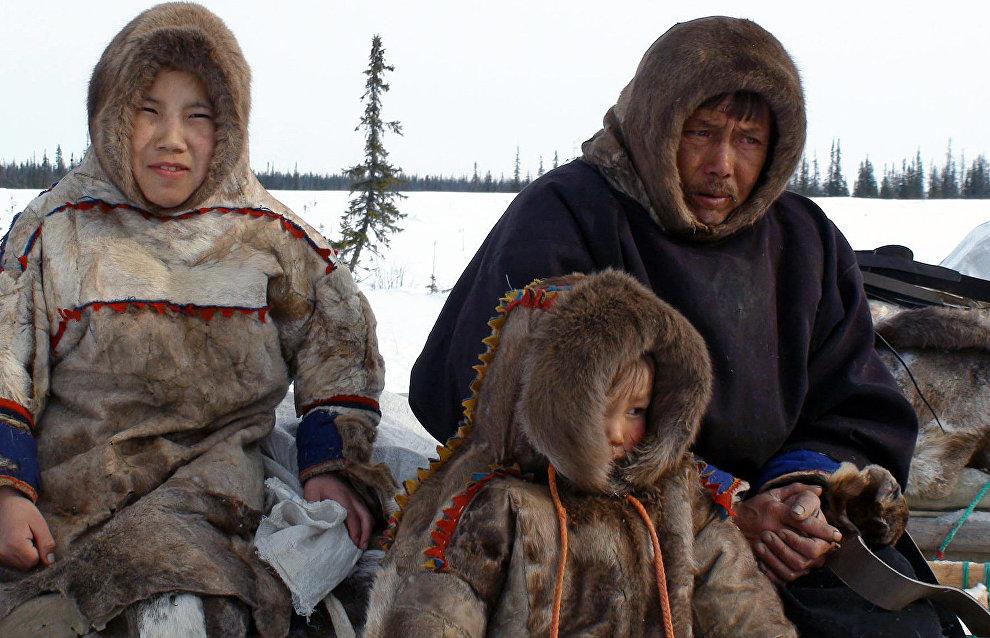 A Nenets family