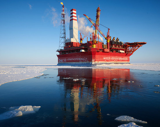 The Prirazlomnaya offshore oil platform