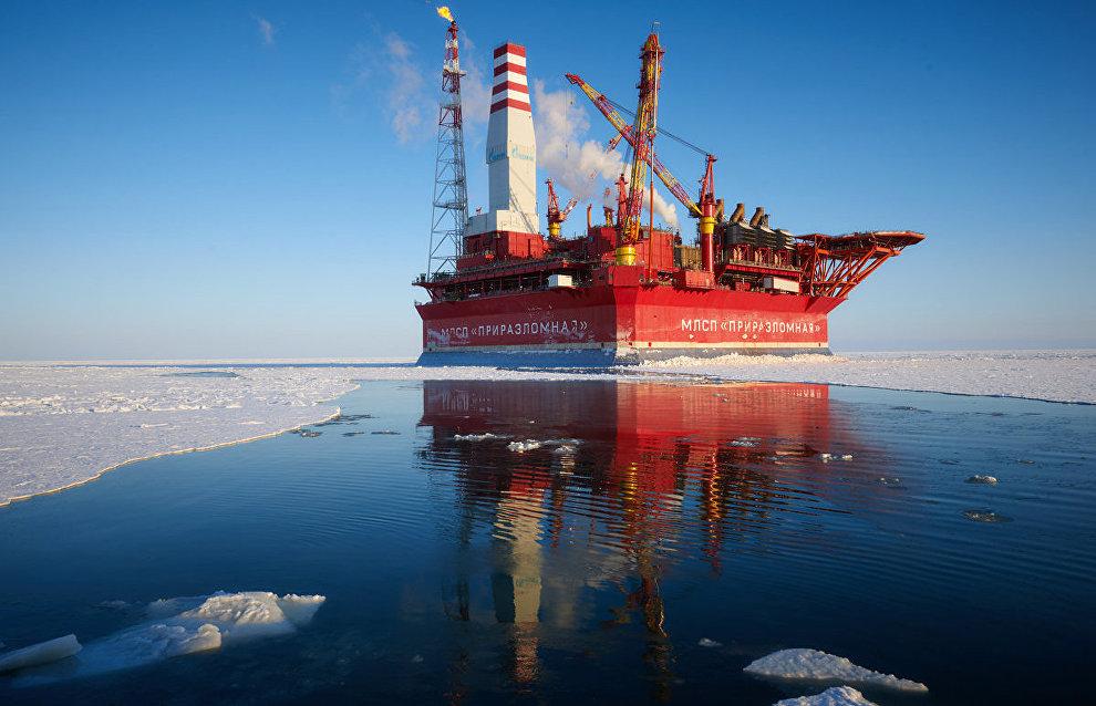 The Prirazlomnaya offshore oil platform