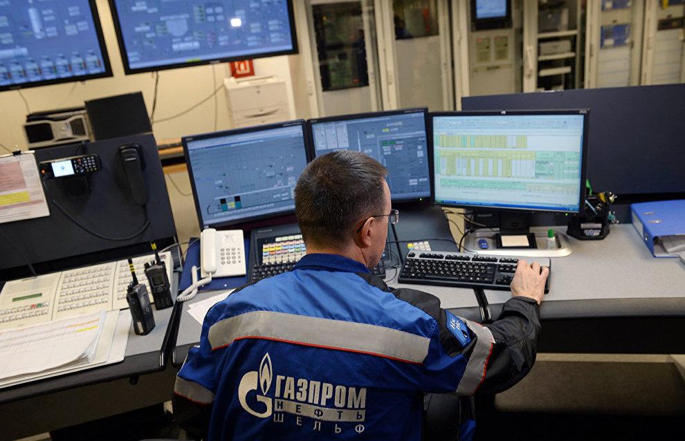 Центральная диспетчерская нефтедобывающей платформы «Приразломная»