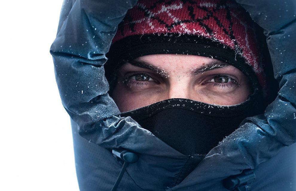 Expedition member Nikita Zhorov