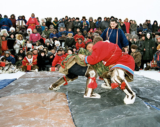 A wrestling competition