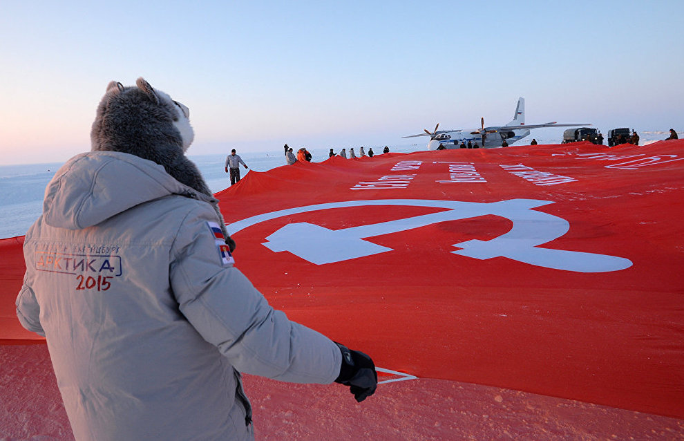 """""""The Largest Victory Banner"""" peacekeeping mission to the North Pole"""