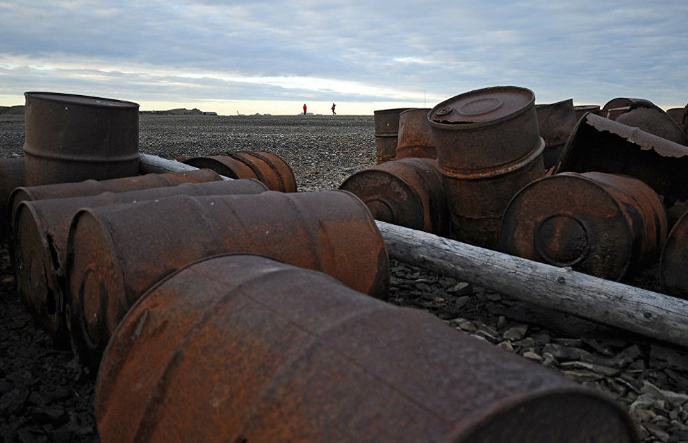 Barrels with hazardous waste found on the east of Russian Arctic