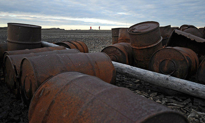 Over 31,000 barrels are reclaimed on Kotelny Island in the Arctic