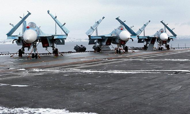 Northern Fleet anti-submarine aircraft crews hold ice reconnaissance in the Arctic