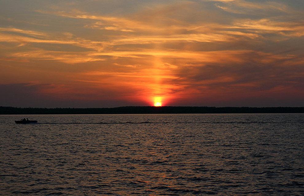Sunset over the Kara Sea