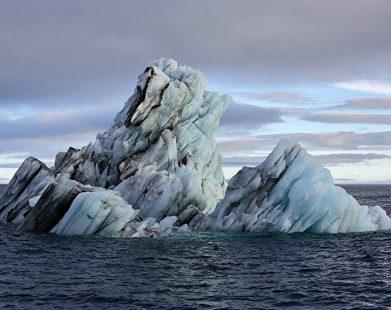 Iceberg in Tikhaya Harbor