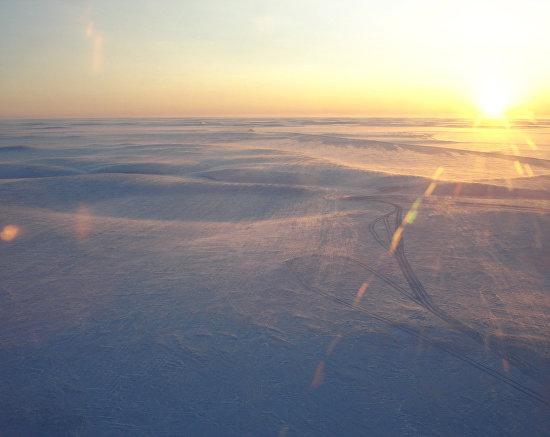 Building winter roads on Yamal Peninsula