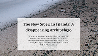 The New Siberian Islands: A disappearing archipelago