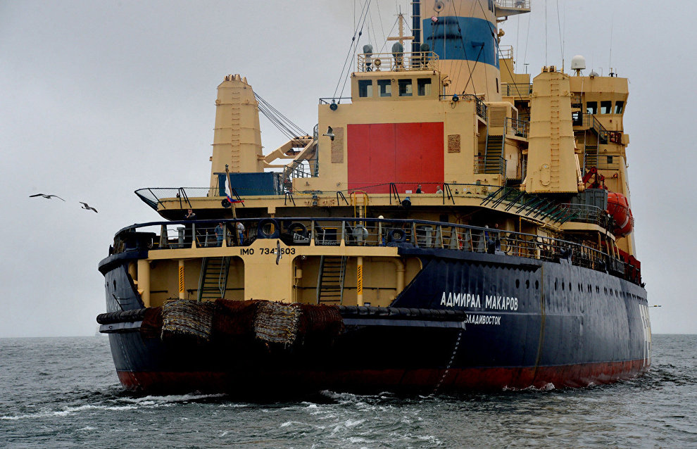 Ship convoy reaches Chukotka with materials for floating power plant