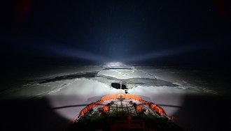 Ледокол «50 лет Победы» осуществил рекордно позднюю проводку судов в Арктике