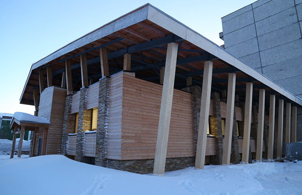 The multi-purpose visitor center at the Pasvik Nature Reserve