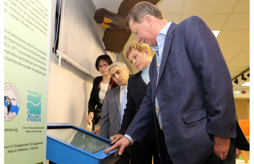 Murmansk Region Governor Marina Kovtun, Special Presidential Representative for Environmental Protection, Ecology and Transport Sergei Ivanov