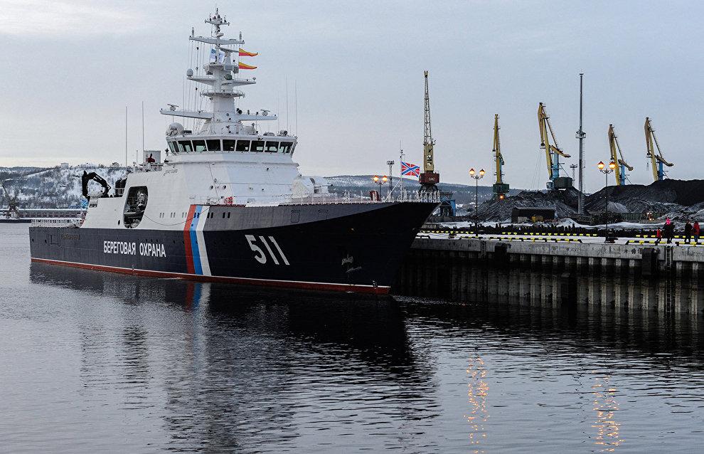 Polyarnaya Zvezda border patrol ship arrives at duty station in Murmansk
