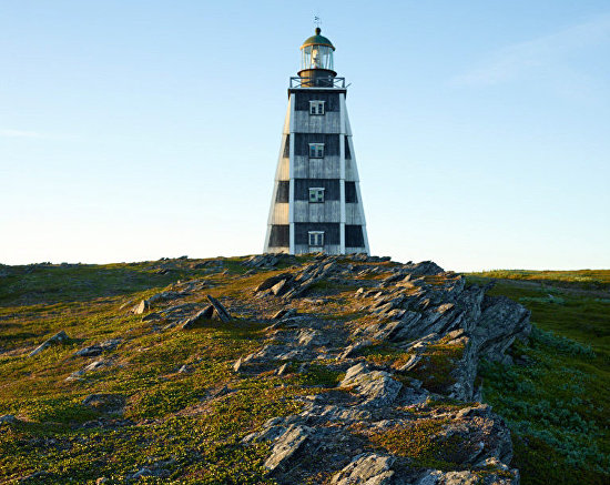 This 26-meter high lighthouse on Cape Kanin Nos is made of larch. 2016