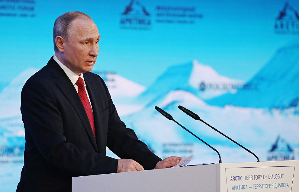 Putin: Russia is interested in using resources from non-Arctic countries to develop the region
