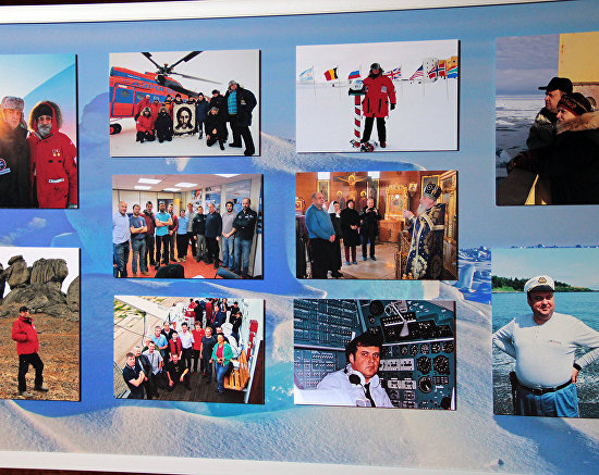 The Heroes of Arctic Ice photo exhibit took place as part of the meeting