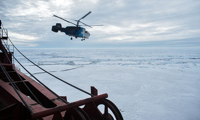 Scientists count Yamal marine mammals from helicopters