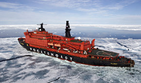 The nuclear icebreaker 50 Let Pobedy (50 Years of Victory) sails off for a memorable expedition to the North Pole