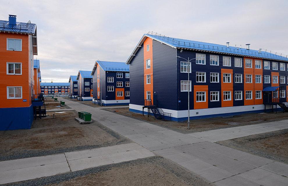 Вахтовый посёлок Сабетта в Ямало-Ненецком автономном округе