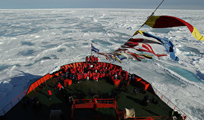 Russian Arctic National Park exhibition opens on icebreaker