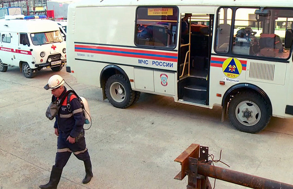 Alrosa searches for eight miners still missing at Mir mine