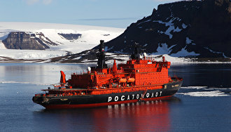 Atomic icebreaker 50 Let Pobedy sets speed record for reaching the North Pole