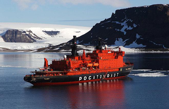 Атомный ледокол «50 лет Победы» поставил рекорд скорости достижения Северного полюса