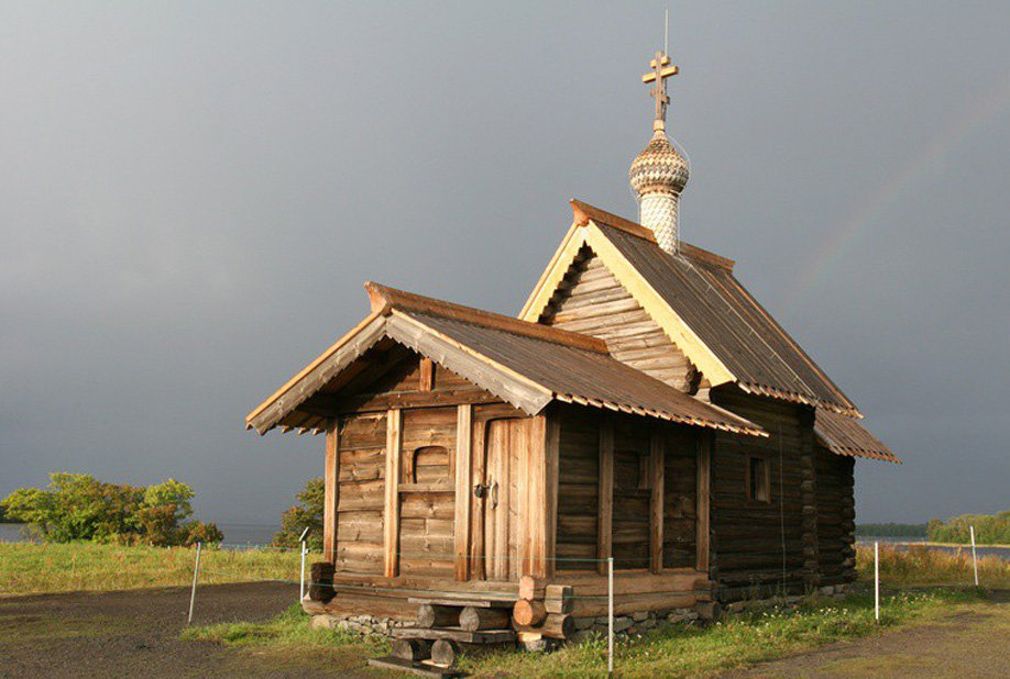 Church of the Raising of Lazarus in the Russian Trans-Onega Area at the Kizhi Museum and Protected Nature Area
