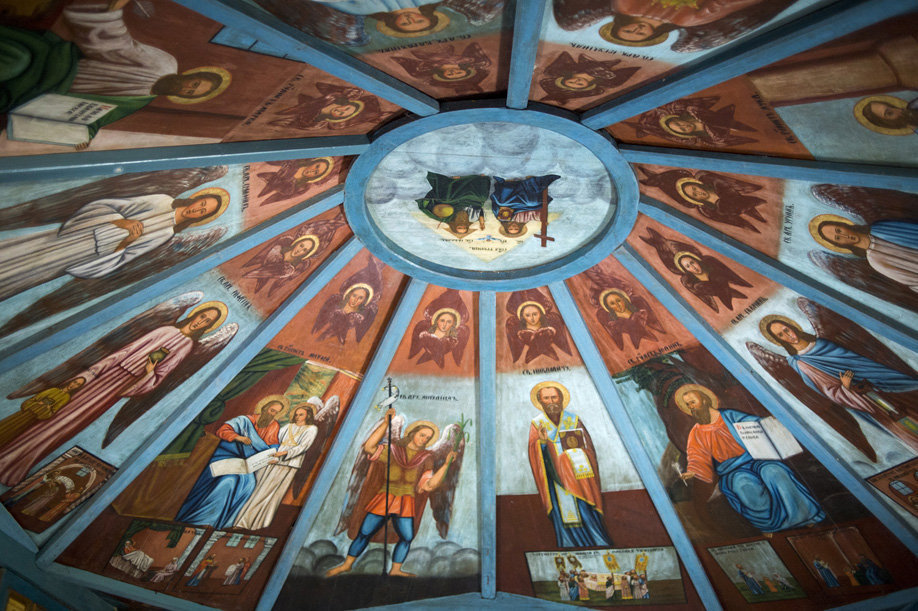 The signed heaven at the St. Nicholas the Wonderworker Chapel in the village of Ust-Poche