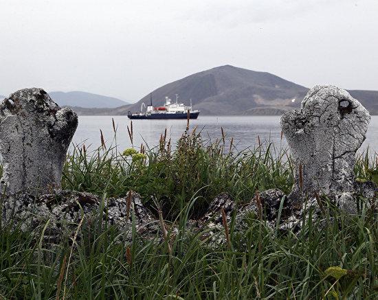 «Китовая аллея» - древнее эскимосское сооружение на острове Ыттыгран, Чукотский автономный округ