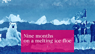 Nine months on a melting ice-floe